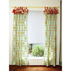Bright and Cheery Ruffled Curtains