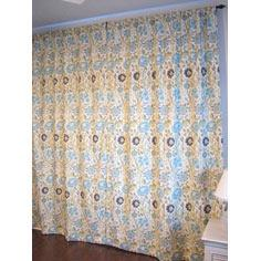 Lined Curtain Panels and Tie-Back