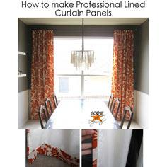 Make professional lined panels