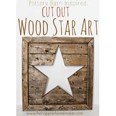 Pottery Barn Wood Star Art