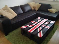 'Union Jack' palette table