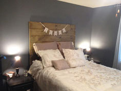 Simple Wooden Headboard