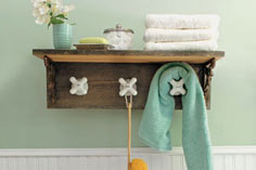 Towel Rack With Vintage Taps