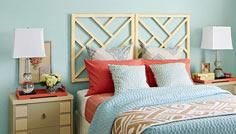 Chippendale-style headboard