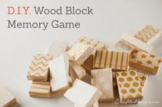 Wood block memory game