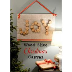 Wood Slice Christmas Canvas