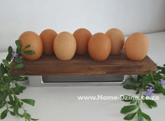 Reclaimed wood or pine egg holder