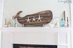 Reclaimed Wood Whale Art