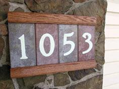Hand Made Address Plaque