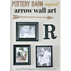 Pottery Barn Inspired Wall Arrow