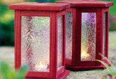 Purpleheart lanterns