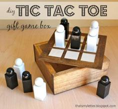 Wood Tic Tac Toe Gift Set
