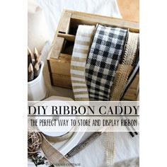 DIY Wood Ribbon Storage