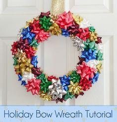 Holiday Bow Wreath Tutorial