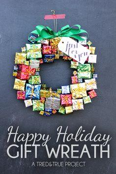 Happy Holiday Gift Wreath