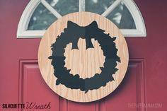 Silhouette Wreath and Printable